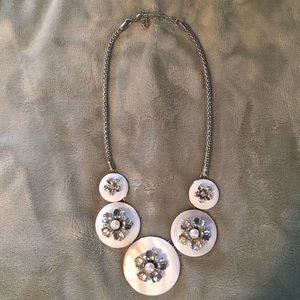 Jewelry - Beautiful  necklace with cubic zirconia & pearls